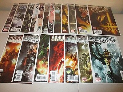 Annihilation Conquest #1-6 Prologue  and Starlord, Wrath, Quasar 1-4  (Lot x 19)