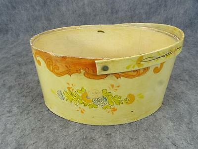 Vintage Oval Hat Box No Lid Circa 1940'S - 1960'S