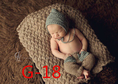 Newborn Baby Girls Boys Crochet Knit Costume Photo Photography Prop Outfits S48