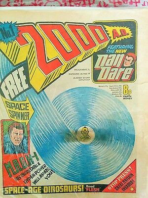 2000ad Progs 1, 2, 3 WITH FREE GIFTS.
