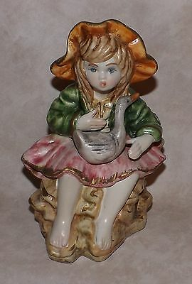 Girl w/ Duck Large Figurine, Made in Italy