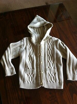 NWOT Knitted Hooded Cardigan Unisex 12 Months