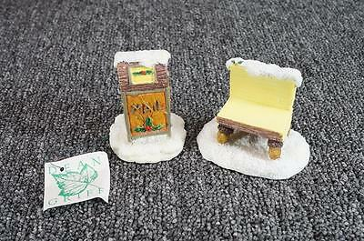 Charming Tails Mailbox, Bench Accessories Figurine