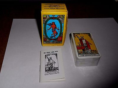 Rare Vintage Miniature Rider Waite Tarot Deck Sealed With Instructions Free Ship