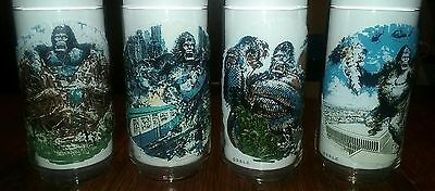 King Kong- Limited Edition Coca-Cola Promo Glasses - 1976 - Complete Set of 4