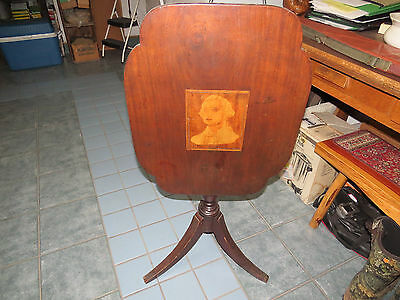 tilt top table / inlaided