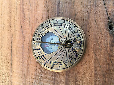 Antique Nautical Solid Brass Sundial Compass  The Mary Rose_