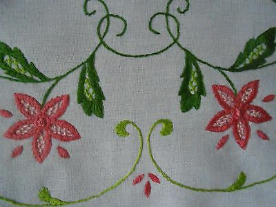 Beautiful Vintage Hand Embroidered Table Runner
