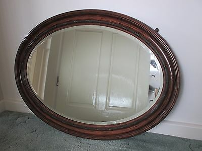 Large Oval Mirror -bevelled glass