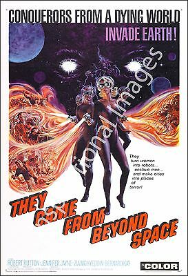 They Came From Beyond Space Movie Poster Print - 1967 - Sci-Fi - 1 Sheet Artwork