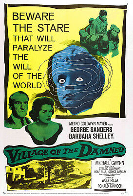 Village Of The Damned Movie Poster Print - 1960 - Sci-Fi - One (1) Sheet Artwork