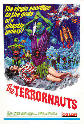 The Terrornauts Movie Poster Print - 1967 - Science Fiction - 1 Sheet Artwork