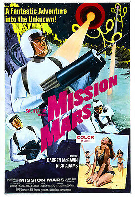 Mission Mars Movie Poster Print - 1968 - Science Fiction - One (1) Sheet Artwork