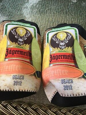 Jagermeister Jager Set Of Two Koozie Coozie Zipper Bottle Cooler NWT