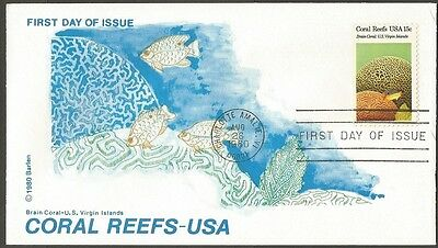 Us Fdc 1980 Coral Reefs Usa 15C Stamp Barlen Cachet First Day Of Issue Cover Vi