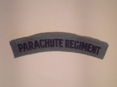 British Army Parachute Regiment shoulder patches SCREEN PRINTED for unifom