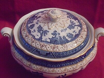 Booths Real Old  Willow Vegetable Tureen with lid (B)