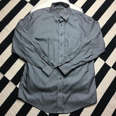 Nordstrom Men's Button Down Shirt Wrinkle-Free SZ 15 1/2 34 Organic Cotton