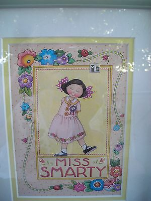Mary Englebreit Framed Double Matted Miss Smarty Print