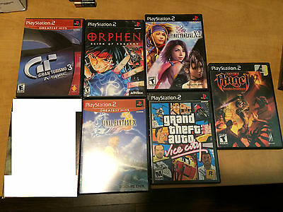 Lot of 6 Playstation 2 PS2 Games RPG Final Fantasy