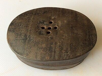Pocket sized 19th century toleware spice tin