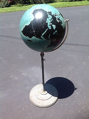 Vintage rare 1940's Denoyer Geppert Military Instructional Globe