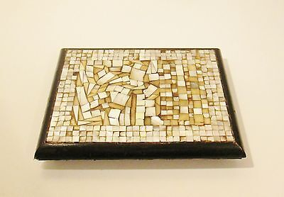 Large Chinese Wooden & Mother Of Pearl Mosaic Inlay Vase Stand - Very Impressive