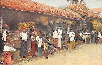 POSTCARD    CEYLON   Native  Shop