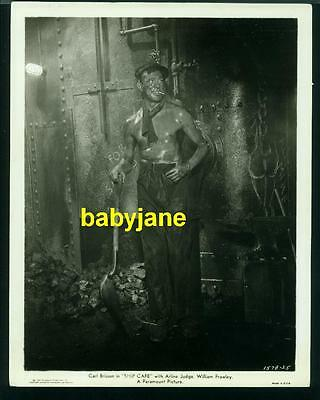 Carl Brisson Vintage 8X10 Photo Bare Chested Shoveling Coal 1935 Ship Cafe