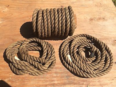 "3/4"" Manila Twisted Hemp Rope, 43' Nautical, Barn, Industrial, Arts & Crafts"