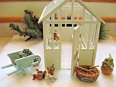 **Rare Hallmark Marjolein Bastin *CONSERVATORY* Display with 5 Accessories