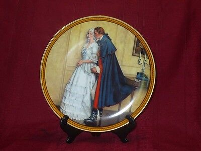 1986 Norman Rockwell Plate The Unexpected Proposal The Rarest Rockwells Colonial
