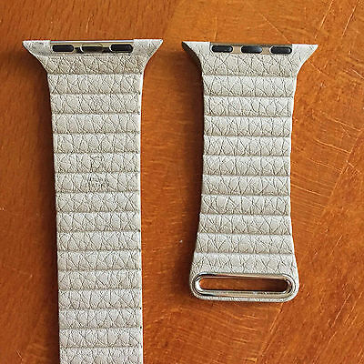 Original Apple STONE Leather Loop Watch Band Large 42mm -discontinued
