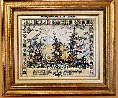 UNUSUAL & RARE Celluloid? Battle of Trafalgar Scrimshaw Van Huysum & Jacque, Jr.
