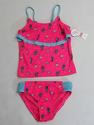 NWT Justice Kid Girls Size 6 8 10 12 or 14 Pink Cactus Tankini Bathing Suit
