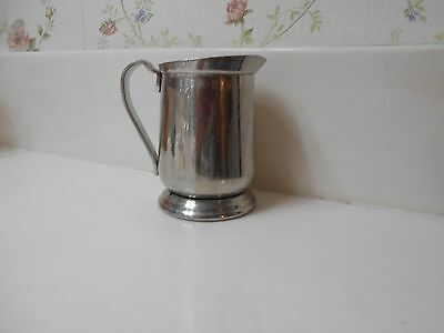 "3 5/8"" Tall Silver Metal 6 oz. Northwest Airlines Creamer  Made by the AMSIL Co."