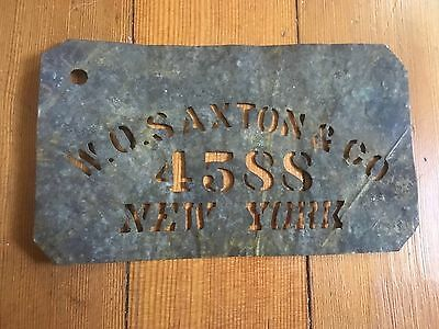 Vintage Tin Sign - Crate Or Barrel Stencil - Early New York - TriBeca Address
