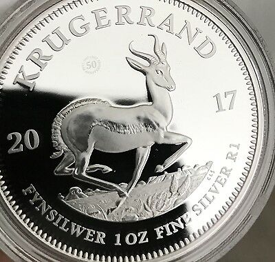 2017 Krugerrand SOUTH AFRICA 50th Anniversary First Ever SILVER PROOF ~Rare~