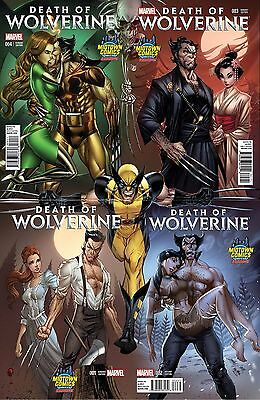 Death Of Wolverine 1 2 3 & 4 Midtown J Scott Campbell Connecting Variant Set Nm