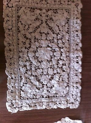 Antique Milanese Gros Point Lace Mat