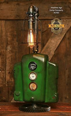 Steampunk Light Industrial Machine Age Steam Gauge John Deere Tractor Lamp