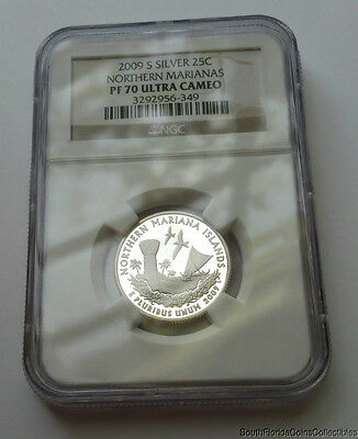 PERFECT 2009-S NGC Proof 70 PF 70 Ultra Cameo Northern Marianas Silver Quarter