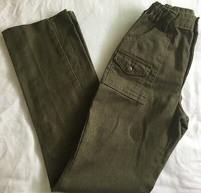 """Boy Scouts of America BSA Green Uniform Pants Size 12 Waist To 26"""" Inseam To 30"""
