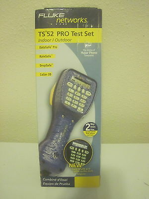 Fluke TS 52 Pro Telephone Test Set New in Box Line w/ Angled Bed of Nails Cord