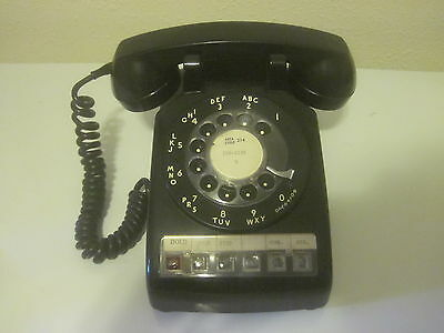 Vintage Black Rotary Dial Desk Phone Multi Line Bell System By Western Electric