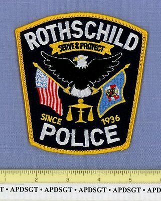 ROTHSCHILD WISCONSIN WI Sheriff Police Patch STATE SEAL FLAG