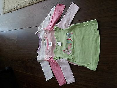 Baby Girl Clothing Size 00 - 3 x Long Sleeve Tops