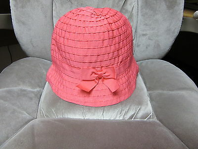 Girls Salmon Pink Hat by Gymboree 100% Polyester Size Large NWOT