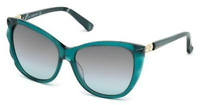 8067505eb872 Swarovski SK 117 SK0117 Fortunate shiny dark green gradient 96F Sunglasses