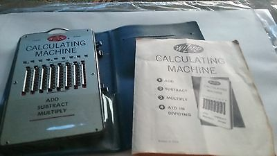VINTAGE Wizard Trade Mark Calculating machine add subtract multiply
